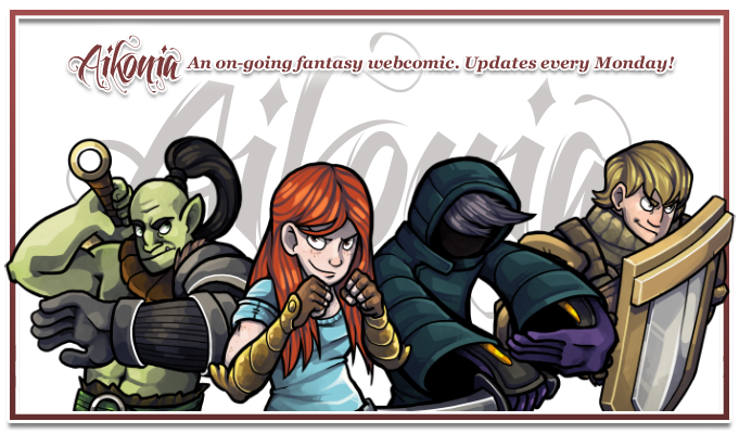 Aikonia is an on-going fantasy webcomic filled with magic, treachery, suspense, and death. Updates every Monday!