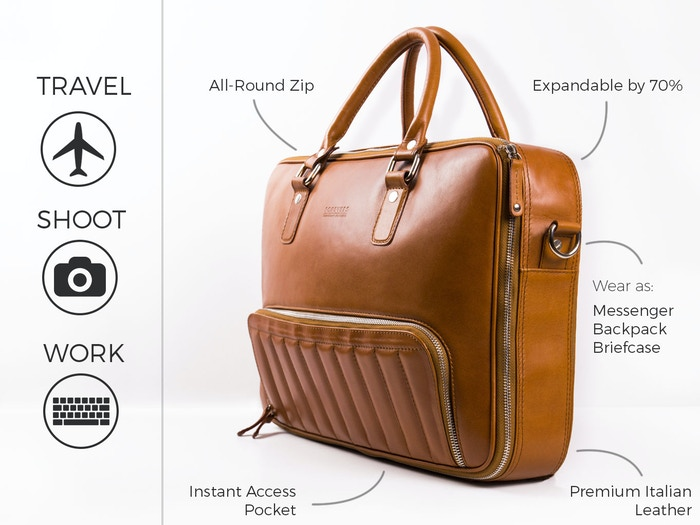 The expandable 48Hr Classic is the urban commuter's ultimate travel, work and photography bag.