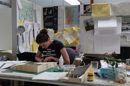 Sometimes you need to get messy! Photo credit: Univ of Newcastle school of architecture