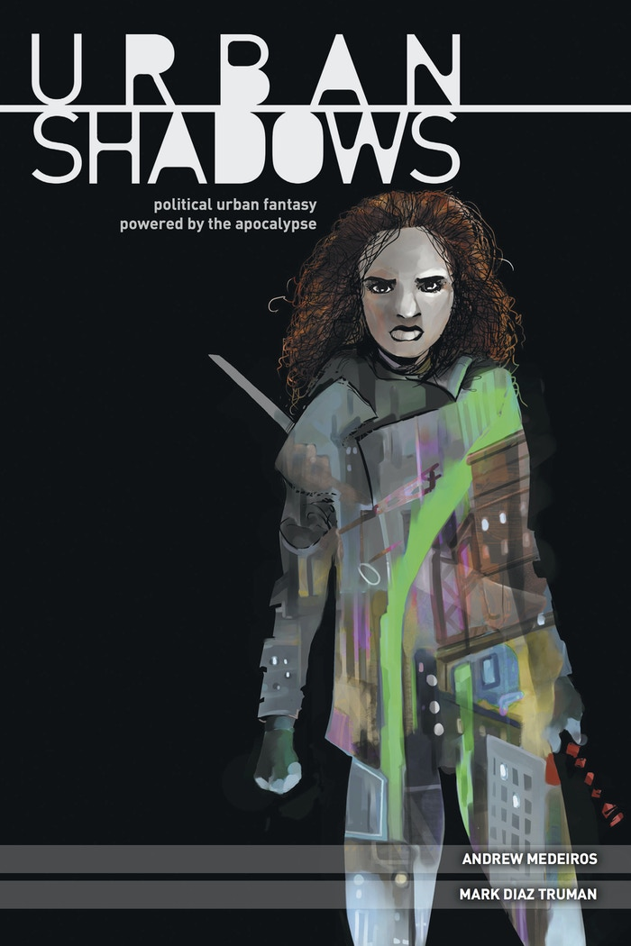 Urban Shadows is an urban fantasy tabletop roleplaying game in which mortals and monsters vie for control of a modern-day city, a political battleground layered under the reality we think we know.