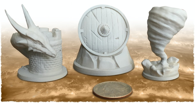 Deadly Dragon, Heroic Shield and Natural Disaster miniature (55mm).