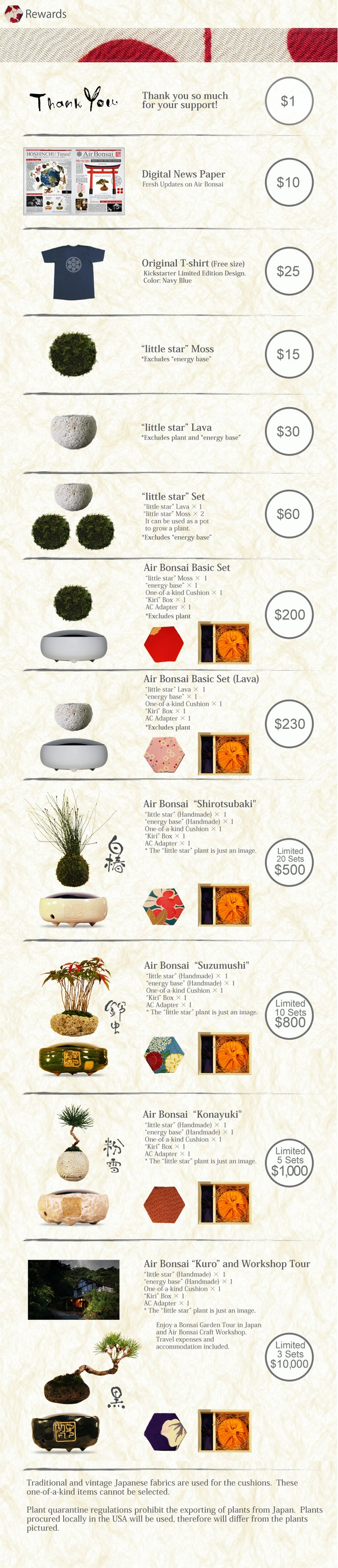 Air Bonsai Create Your Little Star By Hoshinchu Air Bonsai Garden Kickstarter