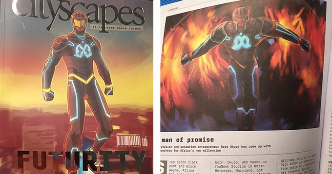 E.X.O. was featured as the cover of South African magazine Citiscapes!