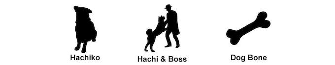 Hachiko (Akita-dog) symbols