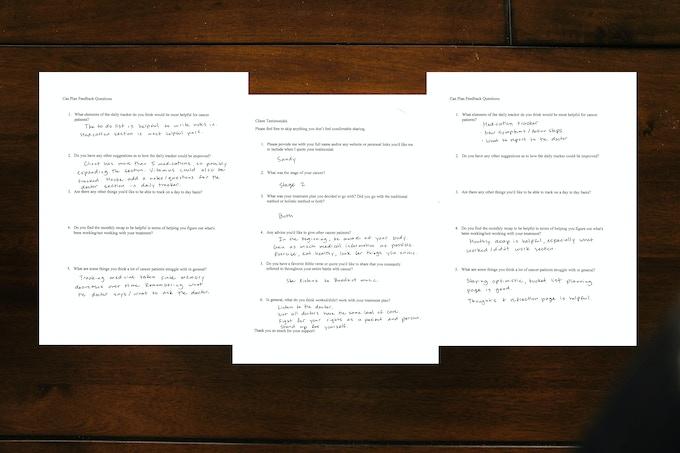 CanPlan feedback questionnaire