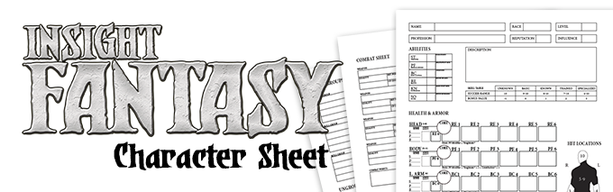 The Insight Fantasy Character Sheet is included in all pledges