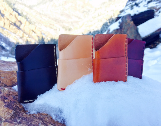 dc6798f6675 Pick from 4 leather and stitch colors. Seen above from left to right  Walnut