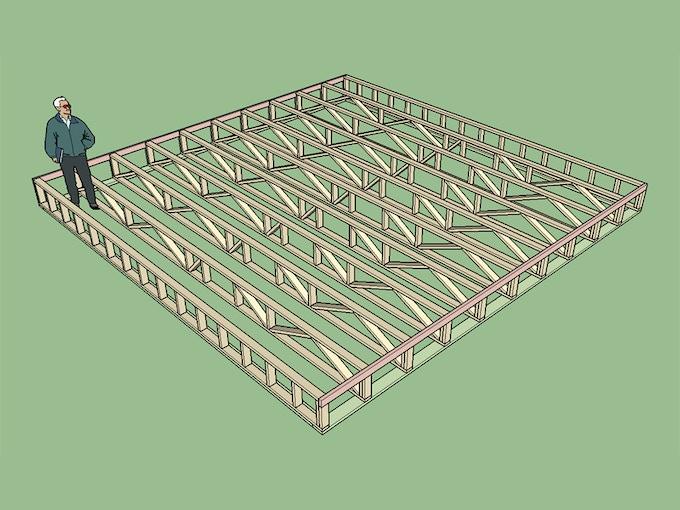 Floor trusses for Tji 210