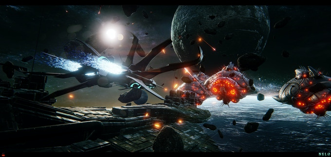 We want Nelo to be full of gameplay variety. We are even including Orbital Dogfighting when playing as Jaymar.