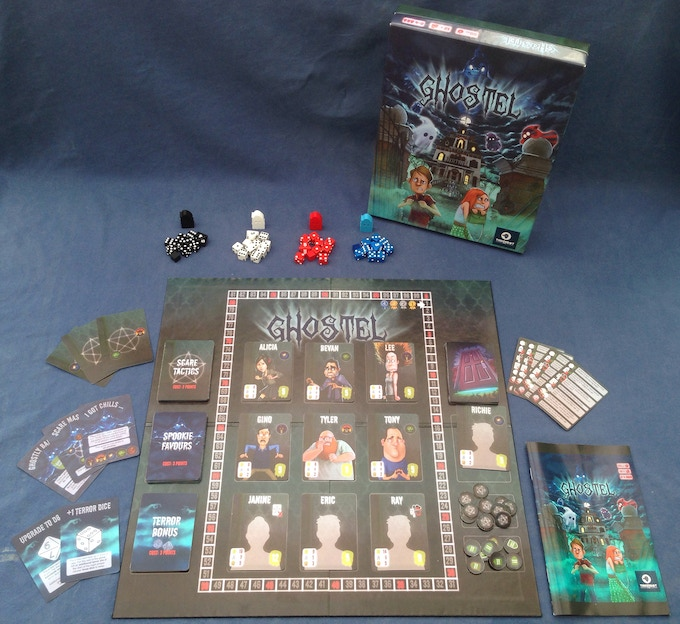 Shared Board Cause To Pause: Ghostel: The Board Game By Gino Brancazio (Tinkerbot Games