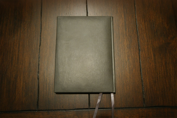 cushioned leather cover sample