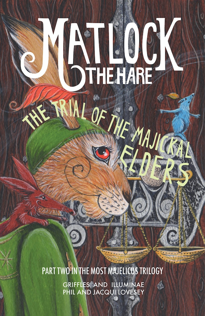 'Working' version of proposed cover for 'The Trial of the Majickal-Elders