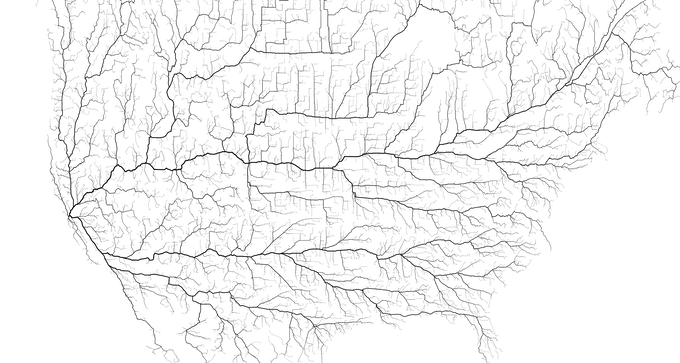 North America showing all roads leading to San Francisco