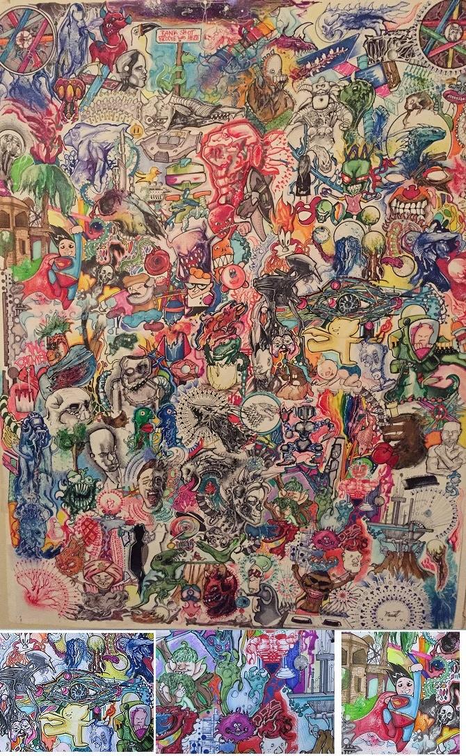 """large """"doodler"""" poster hand-drawn by Greg Merritt"""