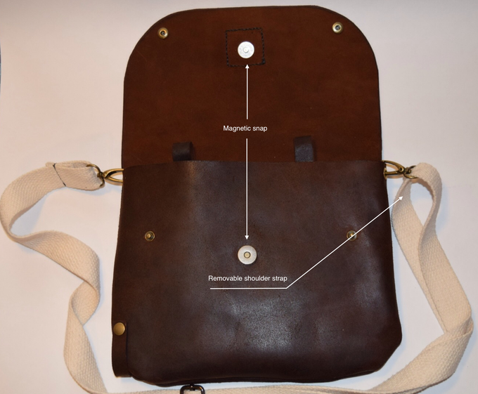 Magnetic snap for easy access while carrying bag on shoulder