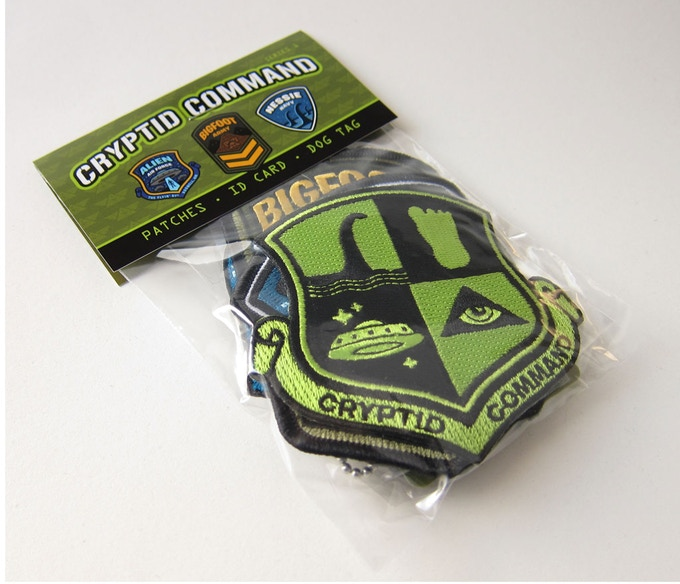 Fully packaged Cryptid Command kit with header card.