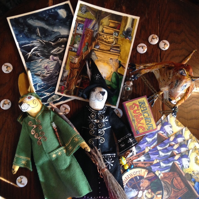 'Crumlush' rewards, many handmade, completely unique, and hand-painted by Matlock artist, Jacqui Lovesey.