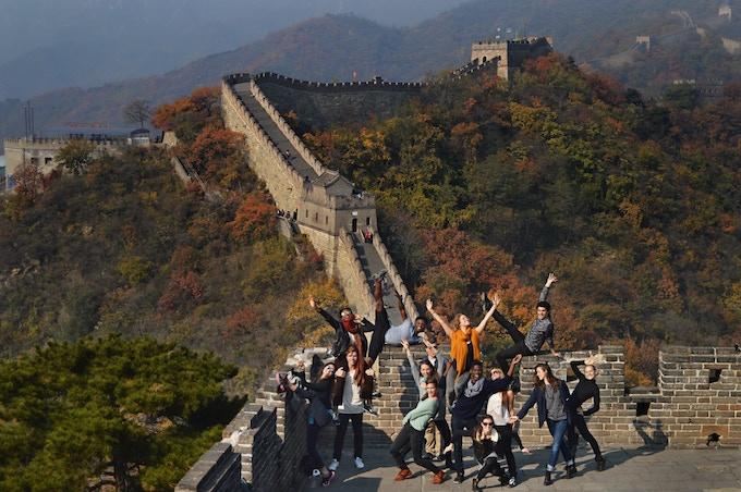 The Martha Graham Dancers at the Great Wall of China