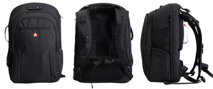 We built the iBackPack from scratch. Pockets, secret compartments, bullet-proof kevlar pockets, batteries galore, caribiners, RFID blocking sleeves, retractable usb power cables and much much more