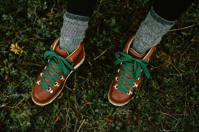 Featured: Women's Mt. Hood (Trukee Red, Forest Green Laces)