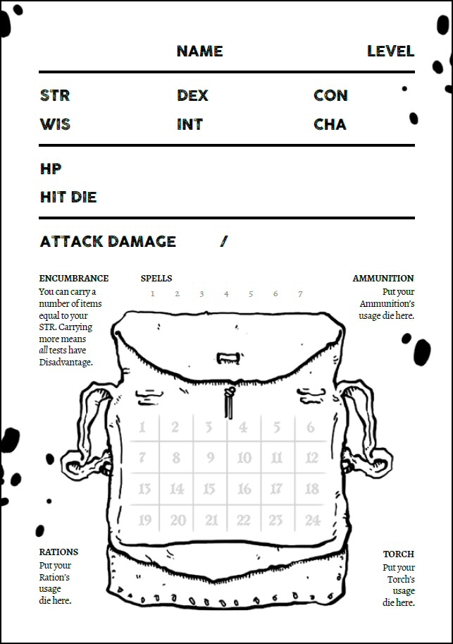 Black Hack Character Sheet
