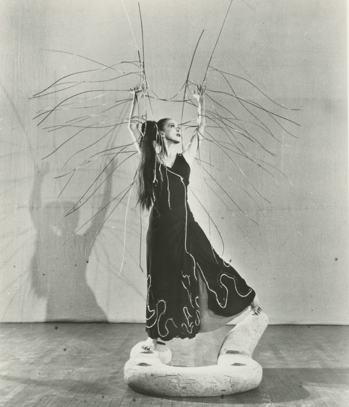 """Martha Graham in """"Cave of the Heart."""" Photo by Philippe Halsman"""
