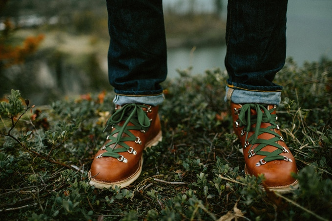 Featured: Men's Mt. Hood Boots (Trukee Red, Forest Green Laces)