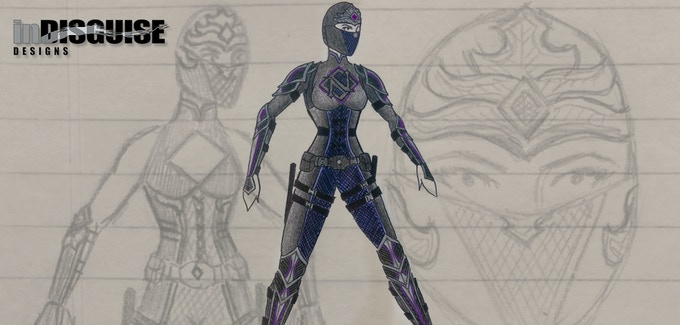 Nightshadow Costume Design Concepts by In Disguise Designs