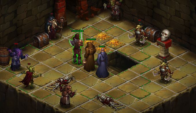 Our heroes facing a horde of goblins as they come out of the stairs, will they survive?