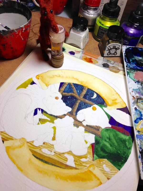 'Guzzwort' Beermat artwork in progress...