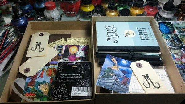 Matlock handmade books and miniature artworks - he's been a 'ganticus' part of 'our' world now for four years...