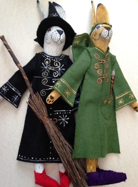 Saztaculous, crumlush, completely handmade, hand-painted Matlock and Ursula figures!