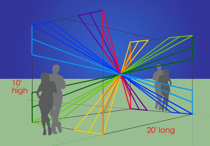 X-Vortex Horizontal Interactive Light Sculpture