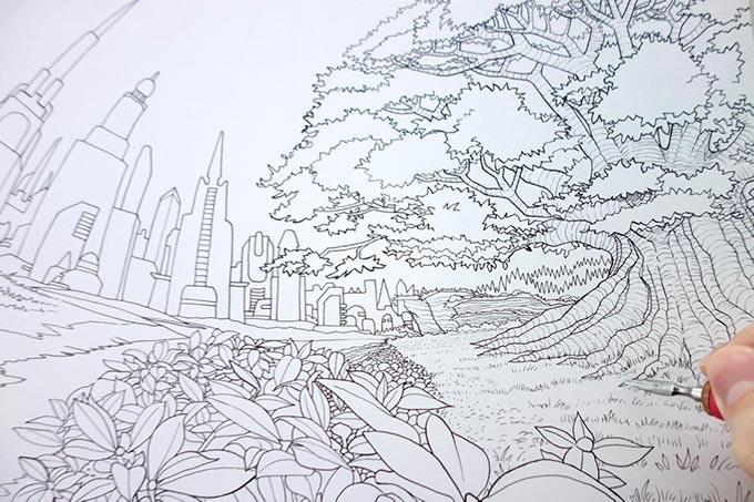 Inking in progress