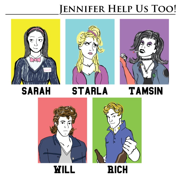 Character concepts for the cast of Teenagers.