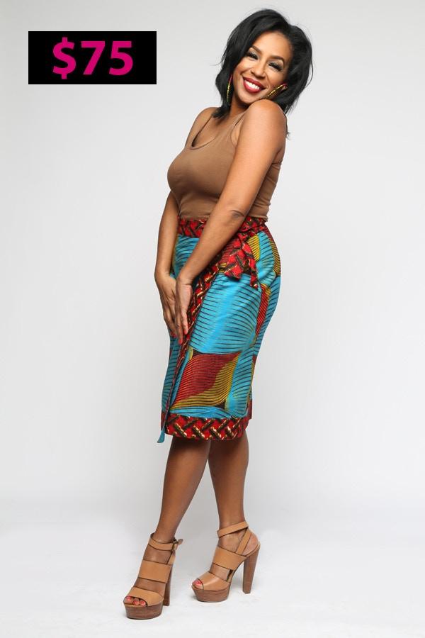 The Power Pencil Wrap Skirt