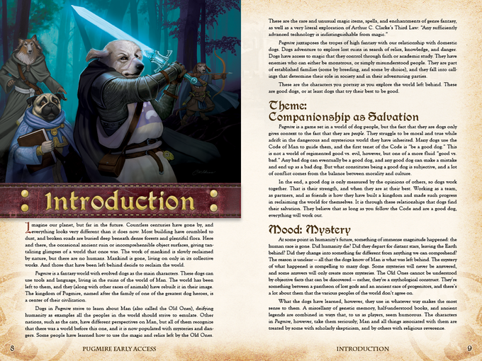 Two Page Spread From The Pugmire Early Access PDF