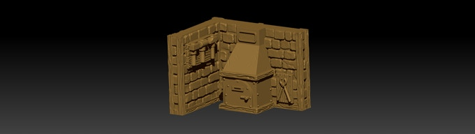 After texturing the model is ready to be 3D printed