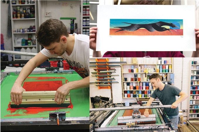 £75 - Full day screen-printing workshop with Tom Camp, previous print technician for renowned artist Rob Ryan!