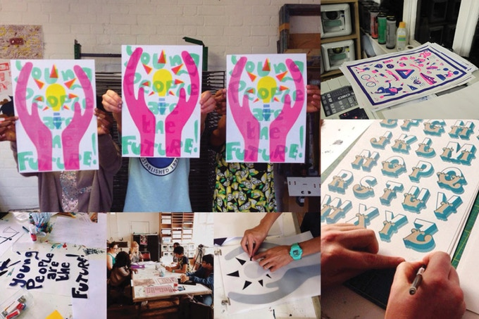 £500 - 10 person Risograph workshop with Dizzy Ink