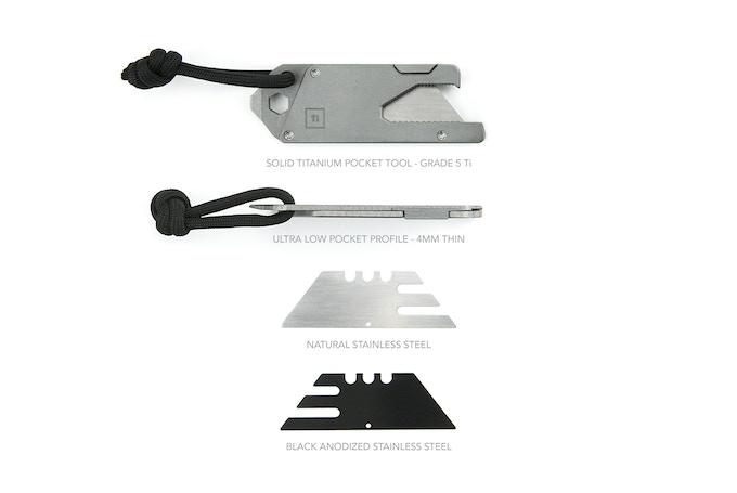 TPT: Grade 5 (6AL4V) titanium alloy multi tool w/ stainless steel inserts.