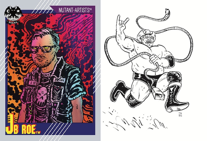 (l) INTRODUCING JB ROE (r) Stan Hansen, for the Atomic Elbow Issue #15