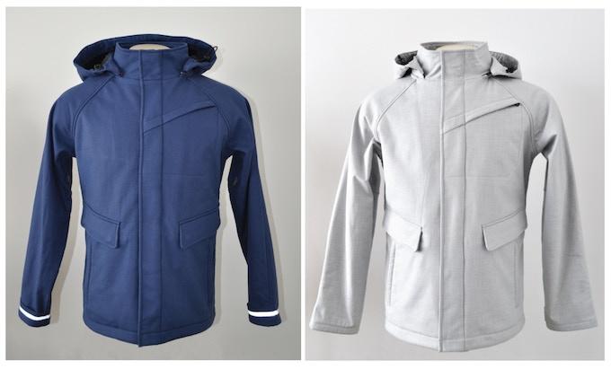 Men's Commuter Jacket in Blue and Light Grey studio shot