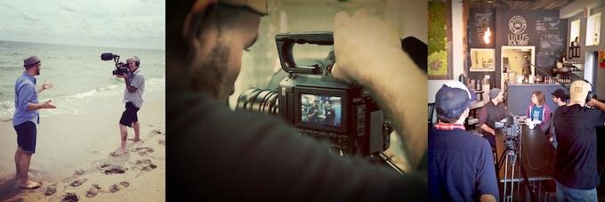 Dustin Harder & Drew Williams filming Season One