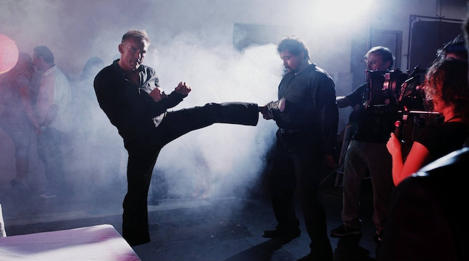 """On the set of """"The Chemist"""" working choreography"""