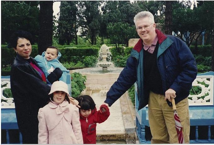 Toloui-Wallace Family in the Ridvan Garden