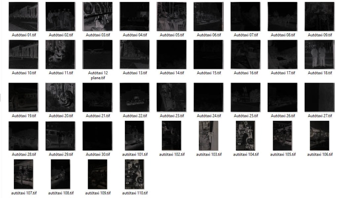 The fist 40 images after very high-res scan, before post-processing. Az első negyven kép nagyon nagy felbontásban, utómunka előtt.