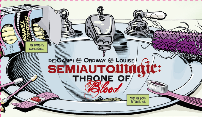 The first panel of Semiautomagic: Throne of Blood