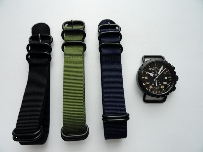 Canvas ZULU strap options.