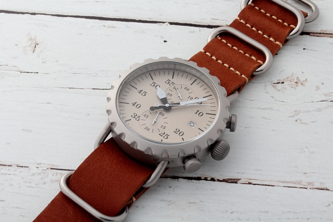 Grey Matte & Silver Dial Brown ZULU
